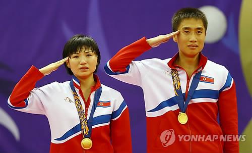 (آسياد) كوريا الشمالية تفوز بذهبية زوجي تنس الطاولة