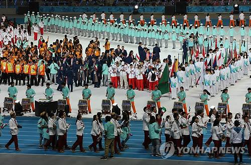 (آسياد)اختتام الألعاب الآسيوية 2014-إنتشون في انتظار الدورة القادمة في جاكرتا