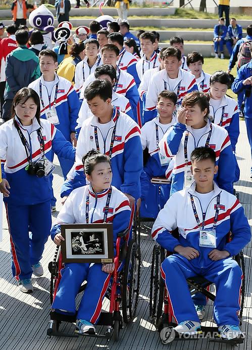 朝鲜亚残运会代表团今日正式进入运动员村