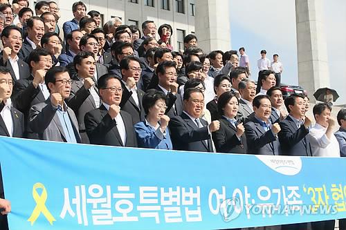 (2e LD) Sewol : sit-in de l'ANPD à l'Assemblée nationale