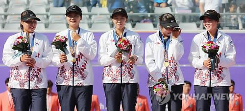 Corea del Sur logra el oro en la prueba por equipos femeninos de 'soft tennis'