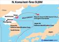 N. Korea test-fires SLBM