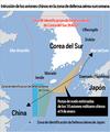 Intrusión de los aviones chinos en la zona de defensa aérea surcoreana