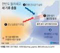날씨 양극화, 한반도 둘러싸고 세 기류 충돌
