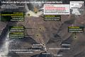 Ubicación de las pruebas nucleares de Corea del Norte