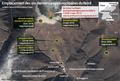 Emplacement des six derniers essais nucléaires du Nord