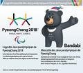 Logo et mascotte des Jeux paralympiques d'hiver de PyeongChang 2018