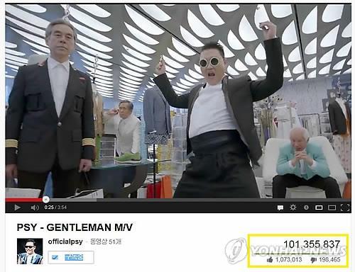 Psy's 'Gentleman' crosses 500 mln mark on YouTube