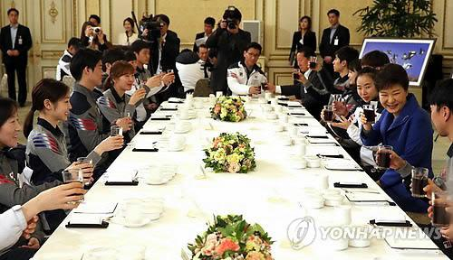 Park hosts lunch for Sochi athletes