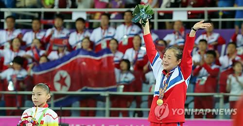 (LEAD) (Asiad) N. Korea wins gold in women's balance beam