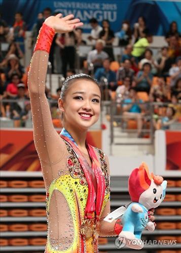 (Universiade) Son Yeon-jae sweeps three titles in rhythmic gymnastics