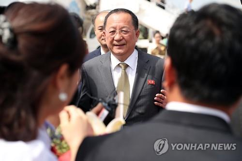 (5th LD) N.K. foreign minister arrives in Laos for regional security meeting