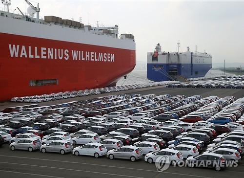S. Korea's passenger car exports tumble 17.4 pct in Q3