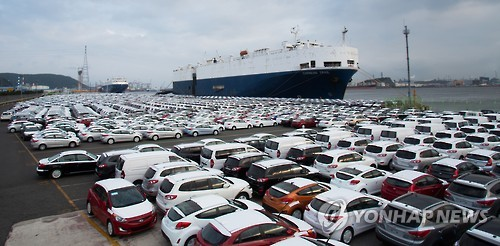 S. Korea's auto exports may dip for 2nd year
