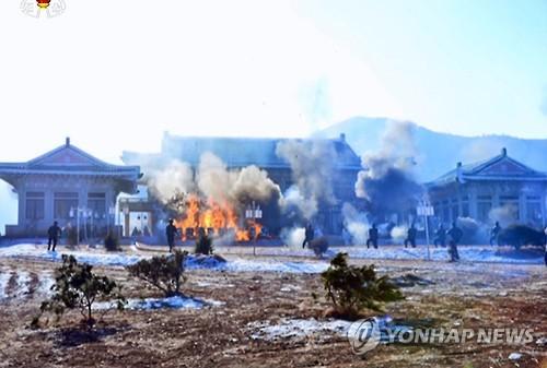 N. Korean leader observes drill attacking S. Korean targets