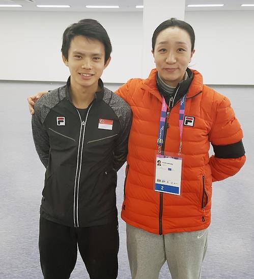 (Yonhap Interview) S. Korean legend, Singaporean athlete eye short track berth at 2018 Olympics