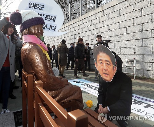 (News Focus) Diplomatic row with Japan flares up over comfort women statue