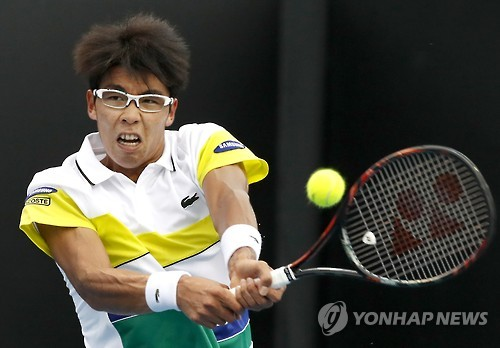 (2nd LD) S. Korean Chung Hyeon beats Argentine to reach Australian Open 2nd round