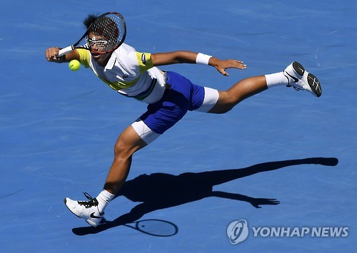 S. Korean Chung Hyeon eliminated in 2nd round at Australian Open tennis