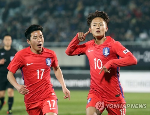 (LEAD) S. Korea beat Zambia 4-1 at U-20 World Cup test event