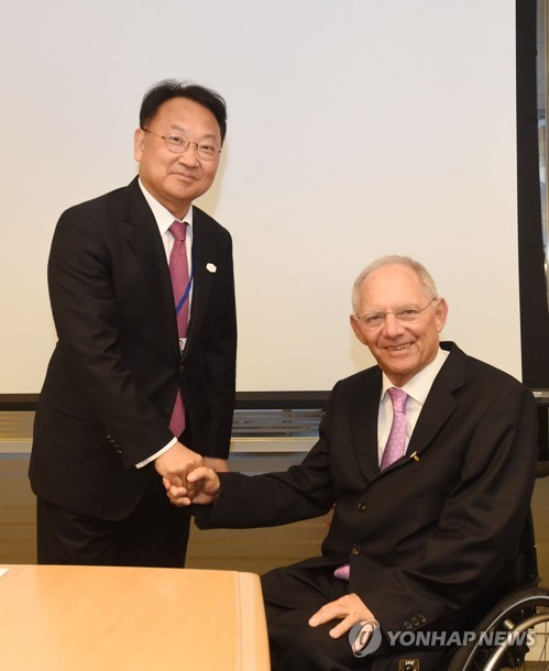S. Korea's finance minister meets with German counterpart