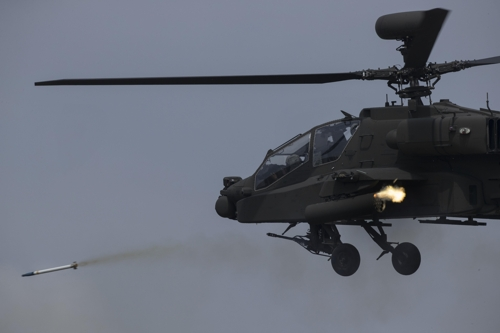 (Yonhap Feature) S. Korea's new Apache chopper makes its debut in live-fire war game