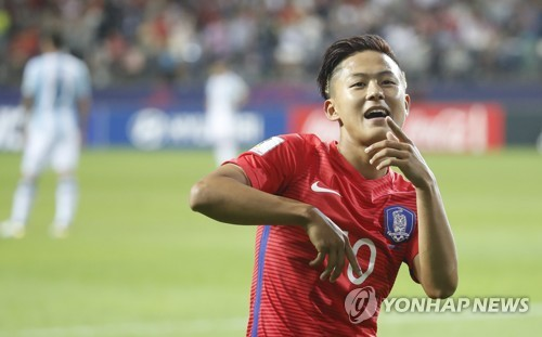 (LEAD) (U20 World Cup) S. Korea clinch knockout berth with win over Argentina