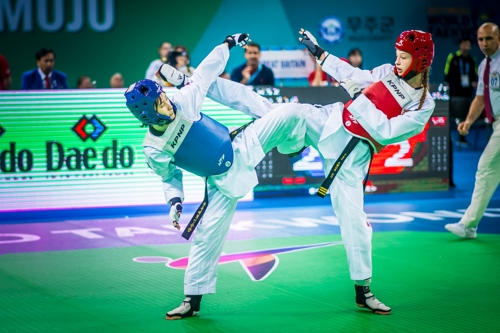 S. Korean Olympic champion ousted in quarterfinals at taekwondo worlds