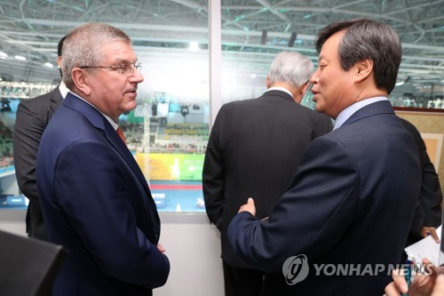 S. Korean sports minister asks for IOC's support in N. Korea's participation in PyeongChang 2018