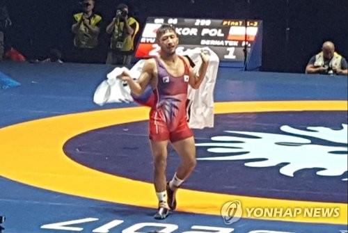 S. Korea's Ryu Han-su wins gold at world wrestling championships