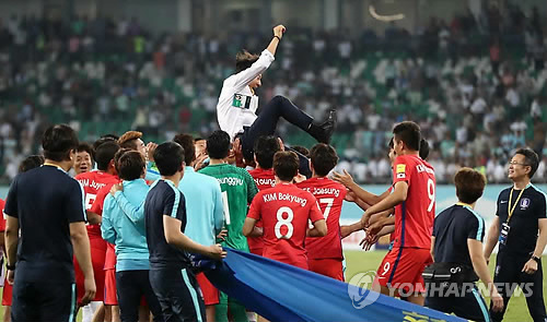 (News Focus) After long, bumpy road, S. Korea qualify for 2018 FIFA World Cup
