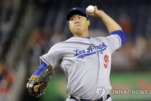 Dodgers' Ryu Hyun-jin pulled in 5th vs. Nationals in another no-decision