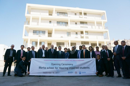 KOICA builds school for those with hearing problems in Jordan