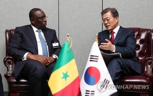 S. Korean, Senegal leaders agree to work together for resolution of N. Korean nukes