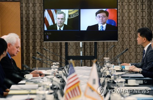 (LEAD) S. Korea, U.S. trade chiefs hold first face-to-face meeting over trade deal