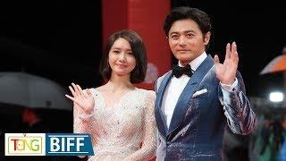 Yoona of Girls' Generation, actor Jang Dong-gun in BIFF red carpet event