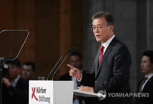 After turbulent six months, Moon's peace vision faces real test