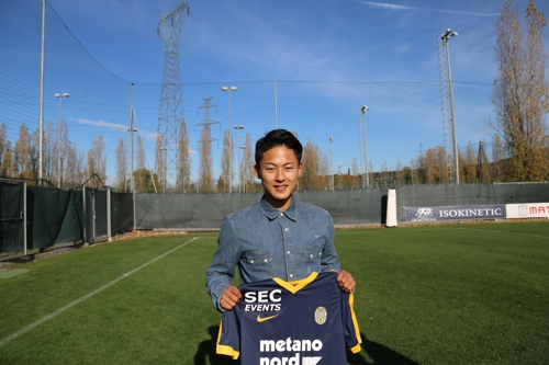 S. Korean footballer eyes starting spot at Italian club, nat'l team selection