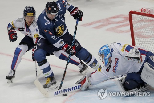 S. Korea falls to Finland in pre-Olympic men's hockey tournament