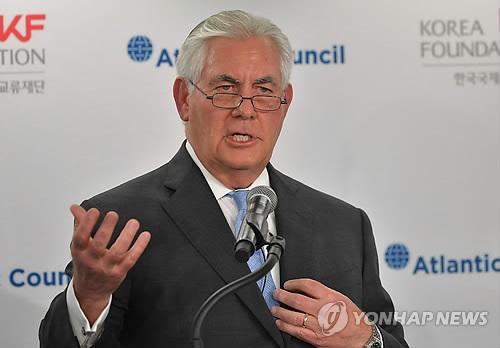 (LEAD) Tillerson: N. Korea must stop 'threatening behavior' before talks can begin