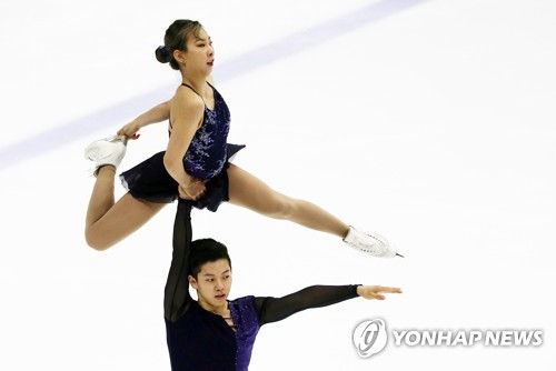 With joint team talks behind, S. Korean figure skating duo vows good performance at PyeongChang