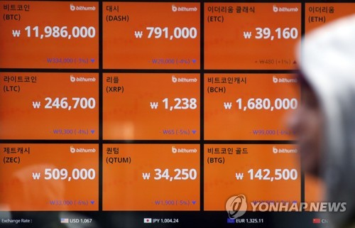 S. Korea to support 'normal transactions' of cryptocurrencies