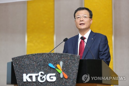 (LEAD) Incumbent chief reappointed to lead KT&G for 3 more years
