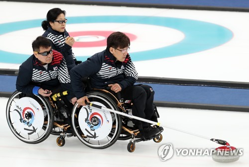 (LEAD) S. Korea fails to win wheelchair curling bronze at PyeongChang Winter Paralympics