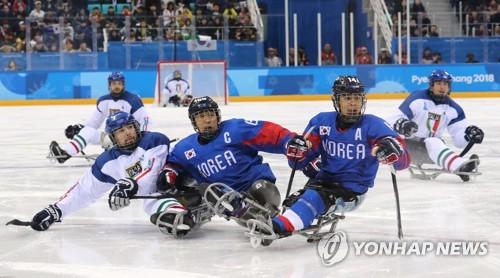 (LEAD) S. Korea defeats Italy to take ice hockey bronze at PyeongChang Paralympics