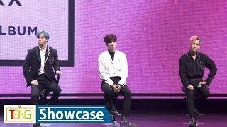 Boy band VIXX attends media showcase for third full album