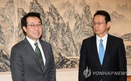 (3rd LD) S. Korean, Japanese nuclear envoys meet ahead of inter-Korean summit