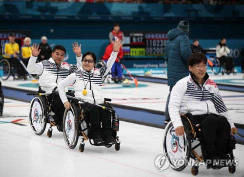 Paralympiques 2018-Curling : la Corée du Sud gagne contre la Finlande