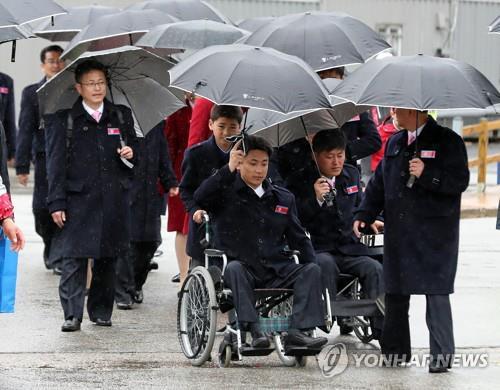 (LEAD) Paralympiques 2018 : la délégation nord-coréenne retourne au Nord