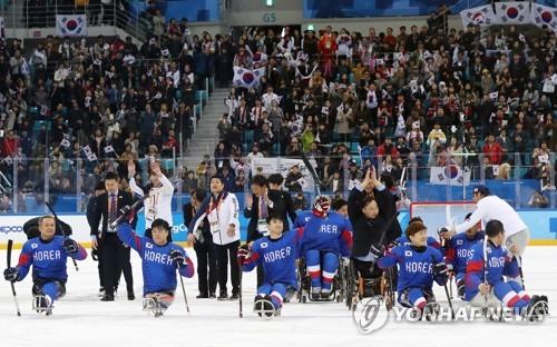 Paralympiques 2018-Hockey sur luge : la Corée du Sud obtient le bronze en battant l'Italie